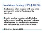 conditional sealing cpl 160 5825