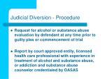 judicial diversion procedure