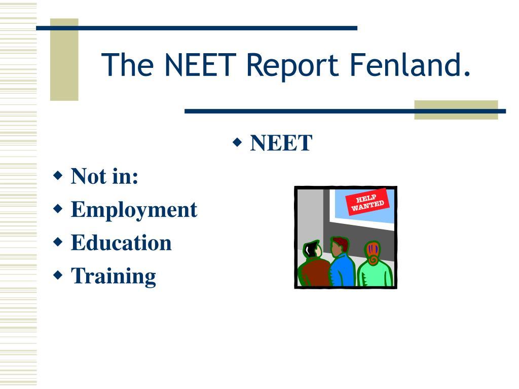 the neet report fenland l.