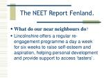 the neet report fenland16