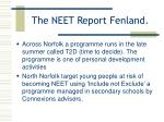 the neet report fenland17