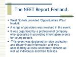 the neet report fenland18