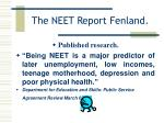 the neet report fenland4