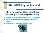 the neet report fenland5