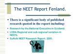 the neet report fenland5