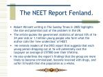 the neet report fenland8