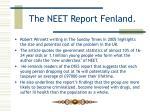 the neet report fenland8