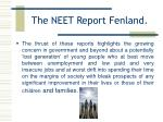 the neet report fenland9