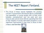 the neet report fenland9