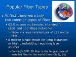 popular fiber types
