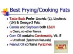 best frying cooking fats