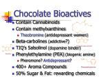 chocolate bioactives