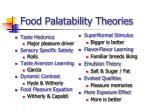 food palatability theories