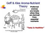 goff klee aroma nutrient theory
