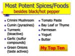 most potent spices foods besides black hot pepper