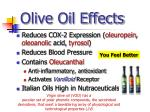 olive oil effects