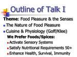 outline of talk i
