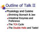 outline of talk ii