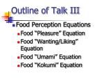 outline of talk iii