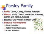 parsley family