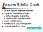 pyrazines sulfur cmpds