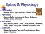 spices physiology