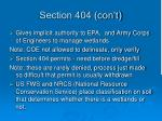 section 404 con t