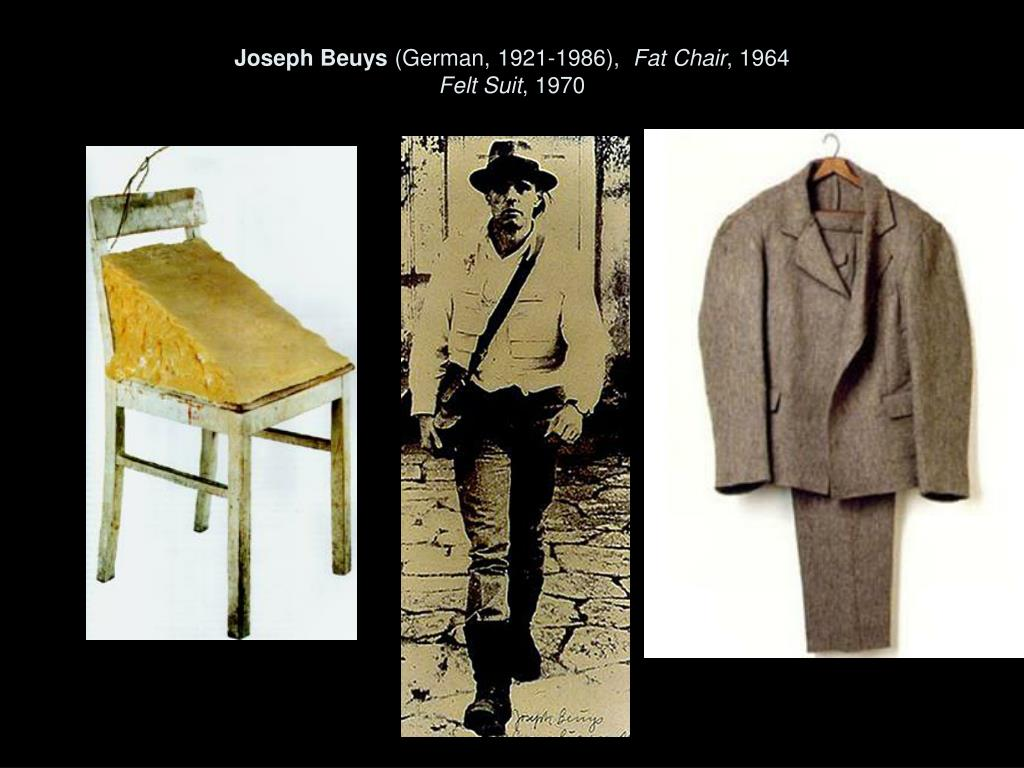 joseph beuys german 1921 1986 fat chair 1964 felt suit 1970 l.