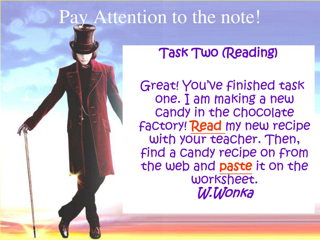 Pay Attention to the note!