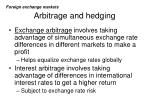 arbitrage and hedging