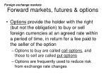 forward markets futures options10