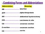 combining forms abbreviations ab