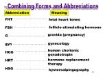 combining forms abbreviations fht