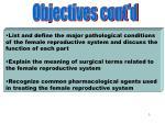 objectives part 2