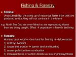 fishing forestry