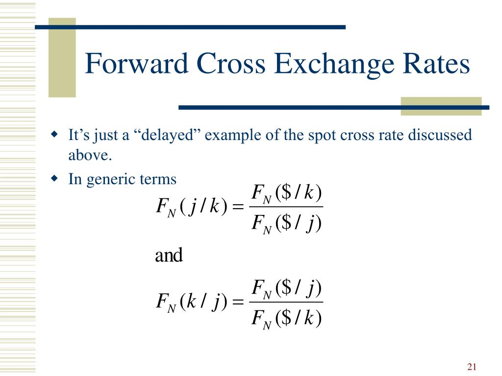 Forward Cross Exchange Rates