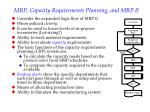 mrp capacity requirements planning and mrp ii