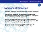 component selection14