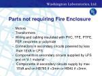 parts not requiring fire enclosure