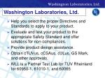 washington laboratories ltd