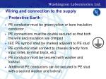 wiring and connection to the supply protective earth
