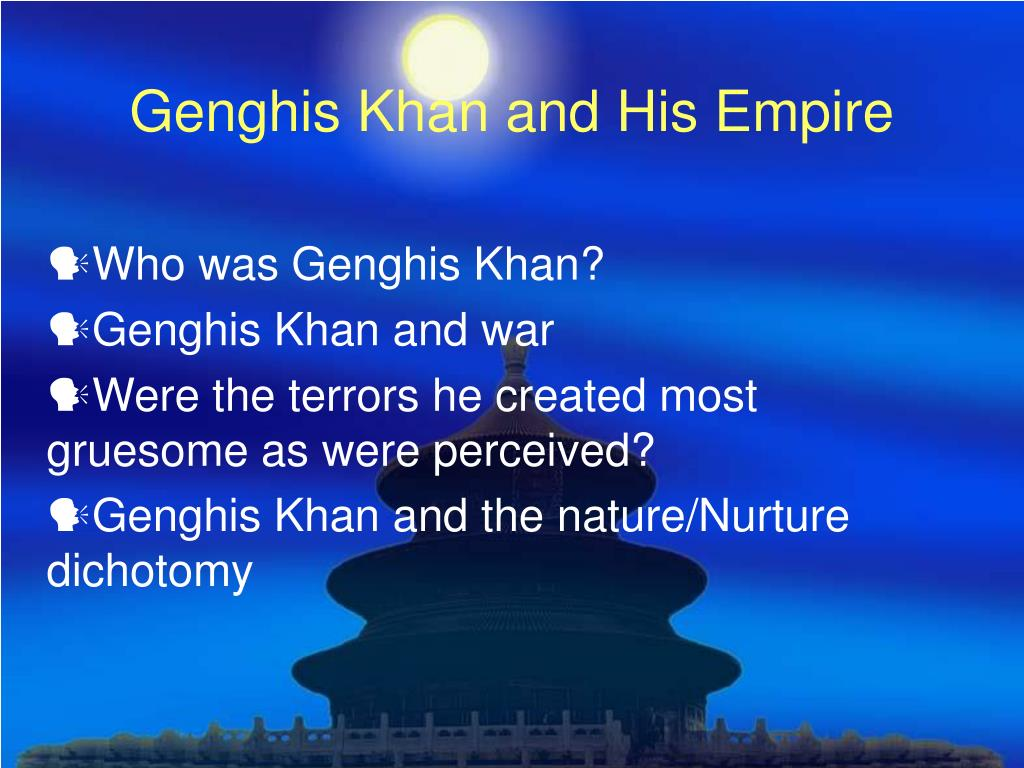 genghis khan and his empire l.