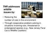 tnr addresses wildlife issues by