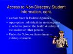 access to non directory student information cont
