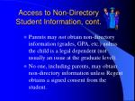 access to non directory student information cont19