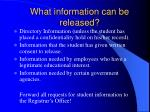 what information can be released