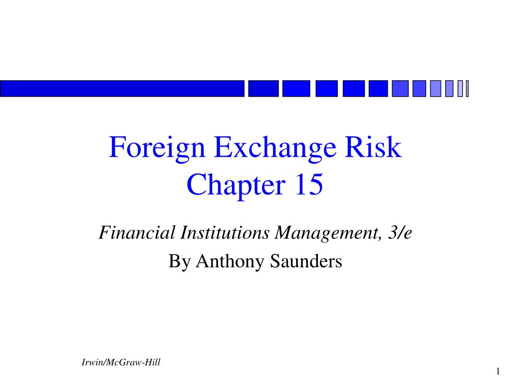 foreign exchange risk chapter 15 l.