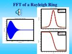 fft of a rayleigh ring20