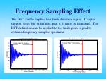 frequency sampling effect