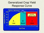 generalized crop yield response curve
